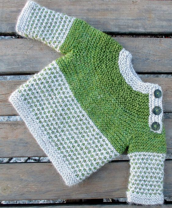 Free Knitting Pattern for Oslo Baby Sweater -Long-sleeved baby ...