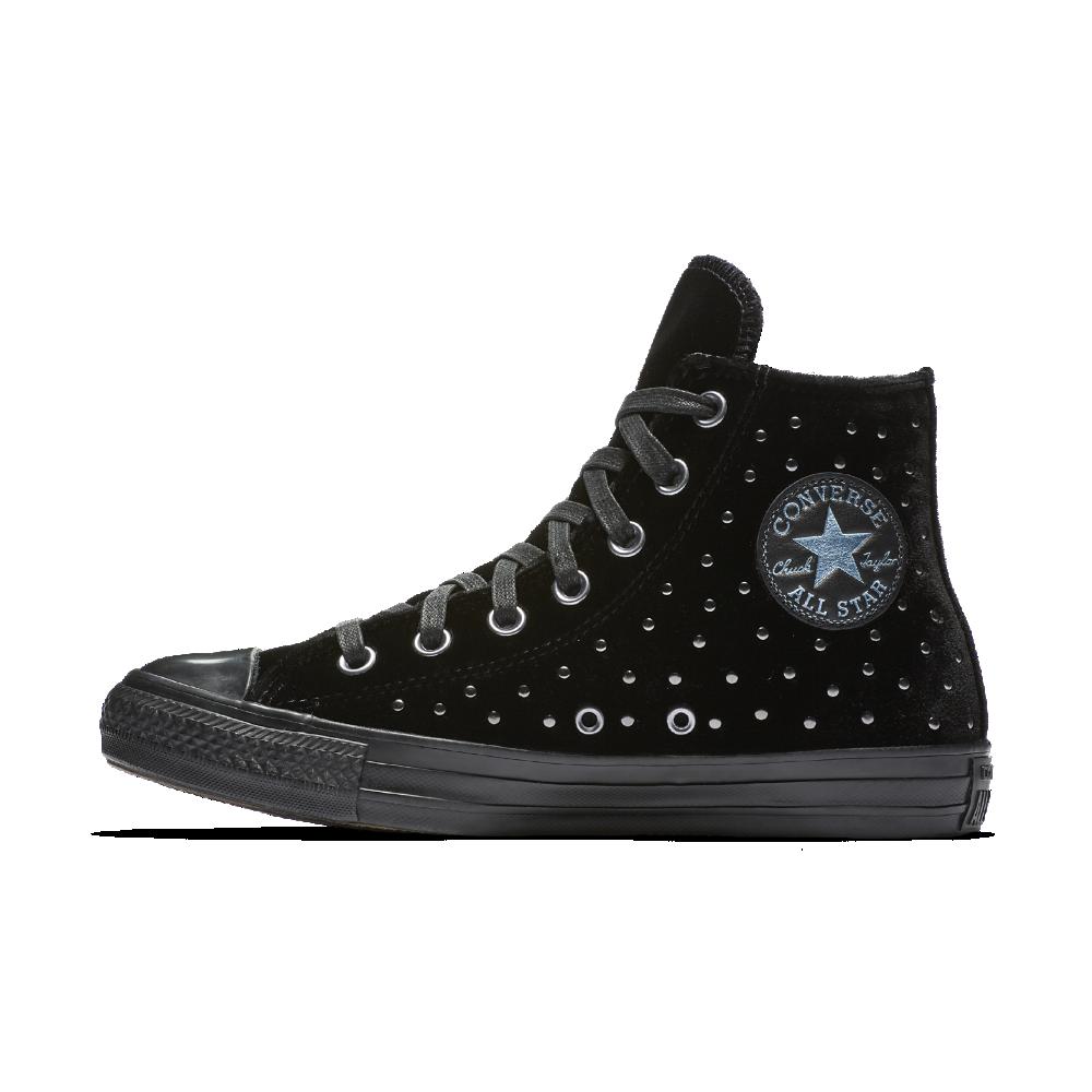 Converse Chuck Taylor All Star Velvet Studs High Top Women s Shoe Size 10.5  (Black) aba92583c