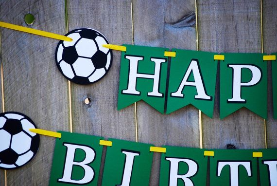 Soccer Birthday Party Banner cb118a7873a77