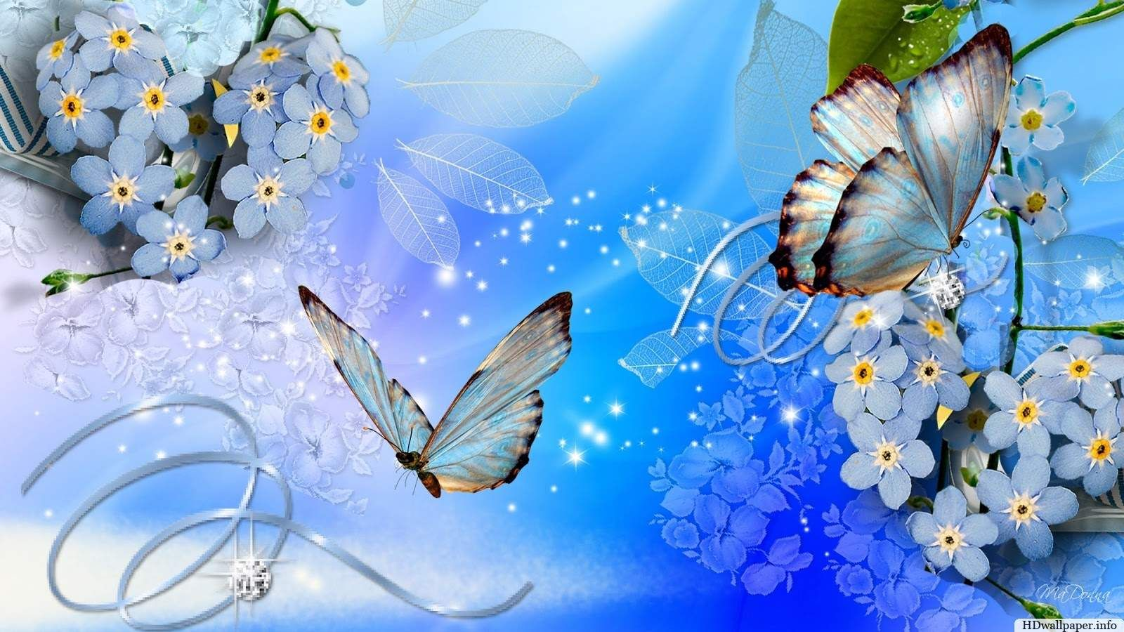 Free Download Hd Wallpapers For Mobile Pc Nature Desktop Love Blue Flower Wallpaper Blue Butterfly Wallpaper Butterfly Wallpaper