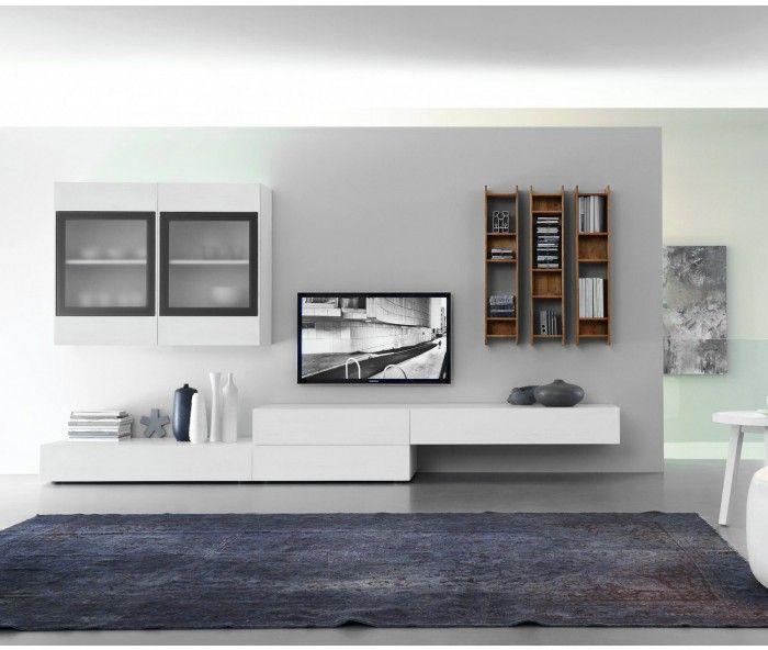fgf mobili wohnwand c38b tvs m bel wohnzimmer. Black Bedroom Furniture Sets. Home Design Ideas