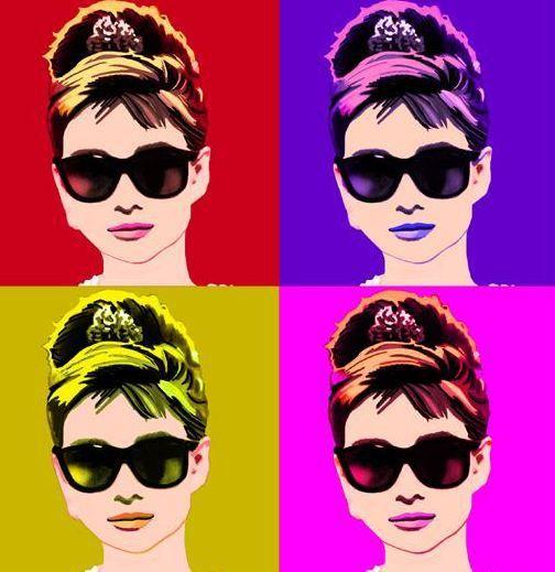Audrey Hepburn pop-art