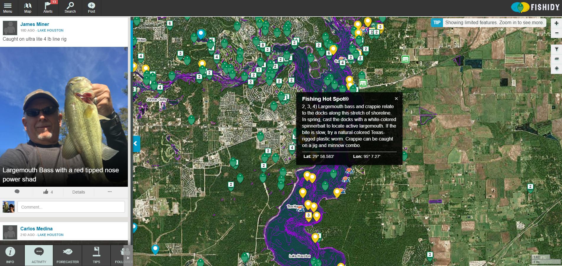 fishing hot spots lake maps Head Straight To The Fishing Hot Spots On Lake Houston With Help fishing hot spots lake maps
