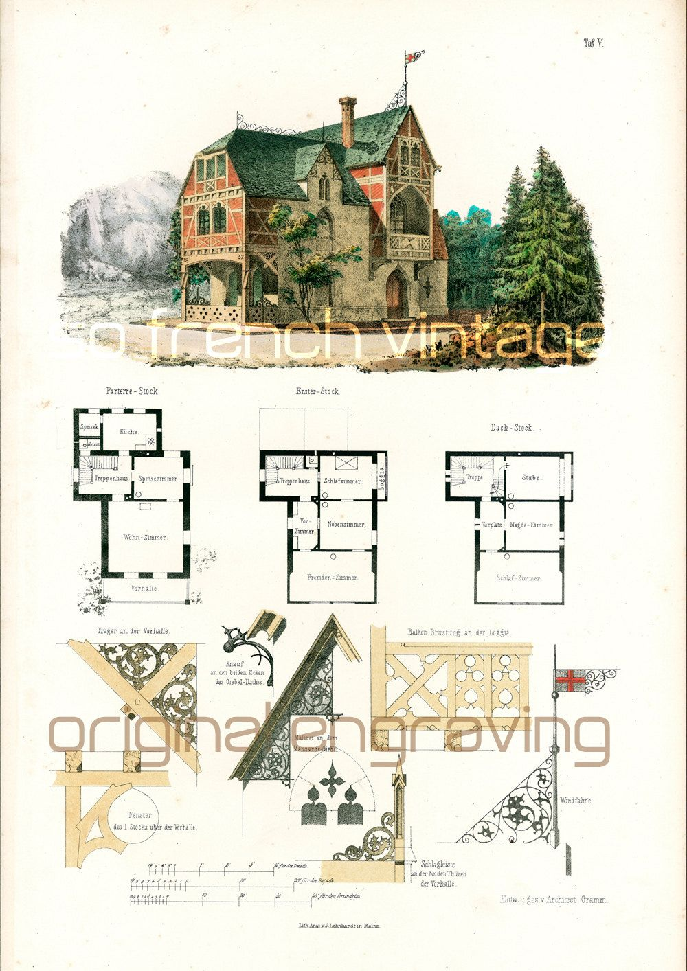 1897 architecture styles large size churches castles for French gothic house plans