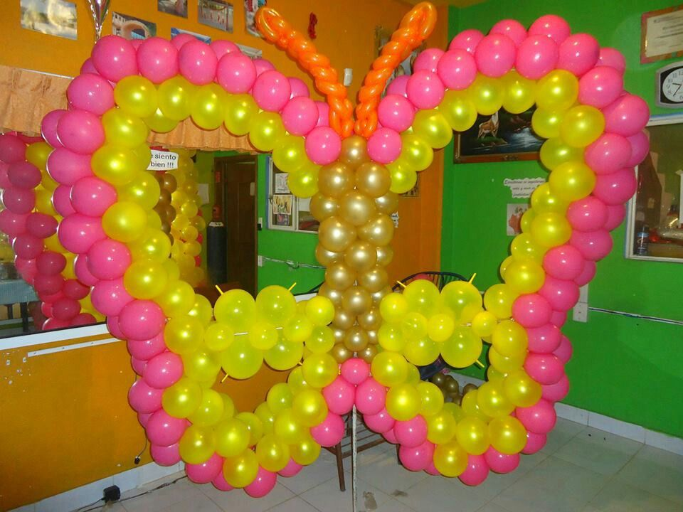 Butterfly balloon decoration decor pinterest