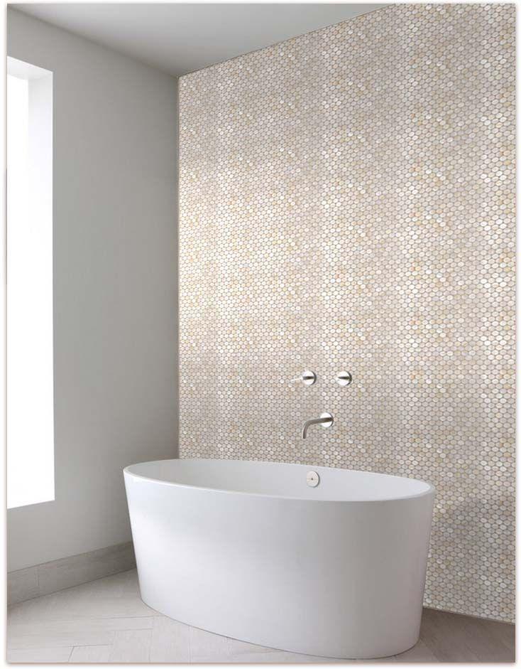 mother of pearl look bathroom tiles