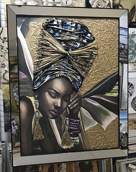 Karahan Cerceve Https Www Karahanresim Com Tablo 5056 Kurdeleli Afrikali Kadin Tablosu Html Tablolar Amerikan Sanat Turk Sanati