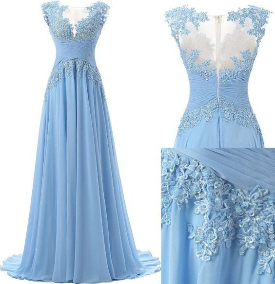 Resultado De Imagen Para Vestidos De Gala Azul Claro