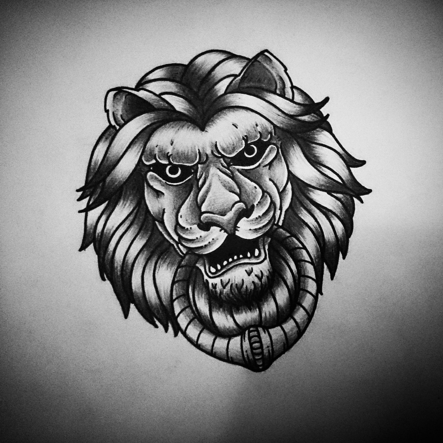 This As A Door Knocker Tattoo Ink Lion Drawing Elephant