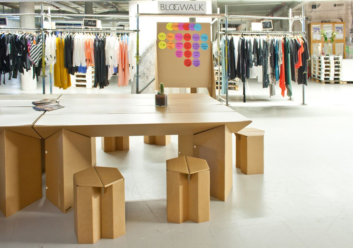 event furniture made of cardboard - stange design pappmöbel from