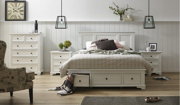 Stunning classic provincial white timber bedroom furniture. The ...