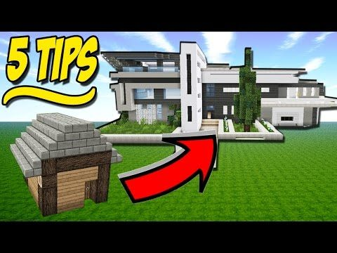 House Building Tips 5 easy tips to build better / improve your minecraft house / basic