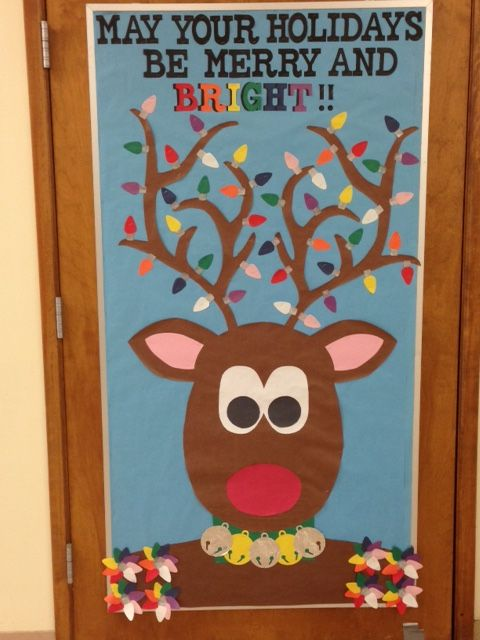 Christmas Classroom Decoration Printables ~ Reindeer holidays christmas winter bulletin board