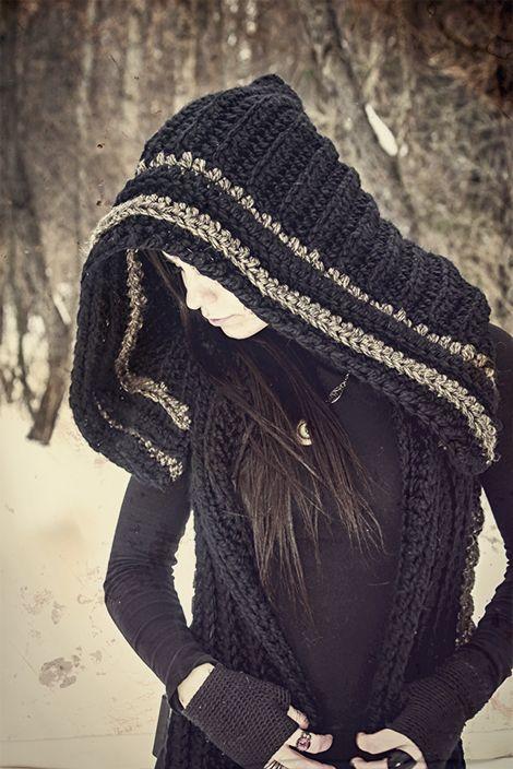 Crochet Vest with large Hood <3 | * elven.faeries.dryads ...