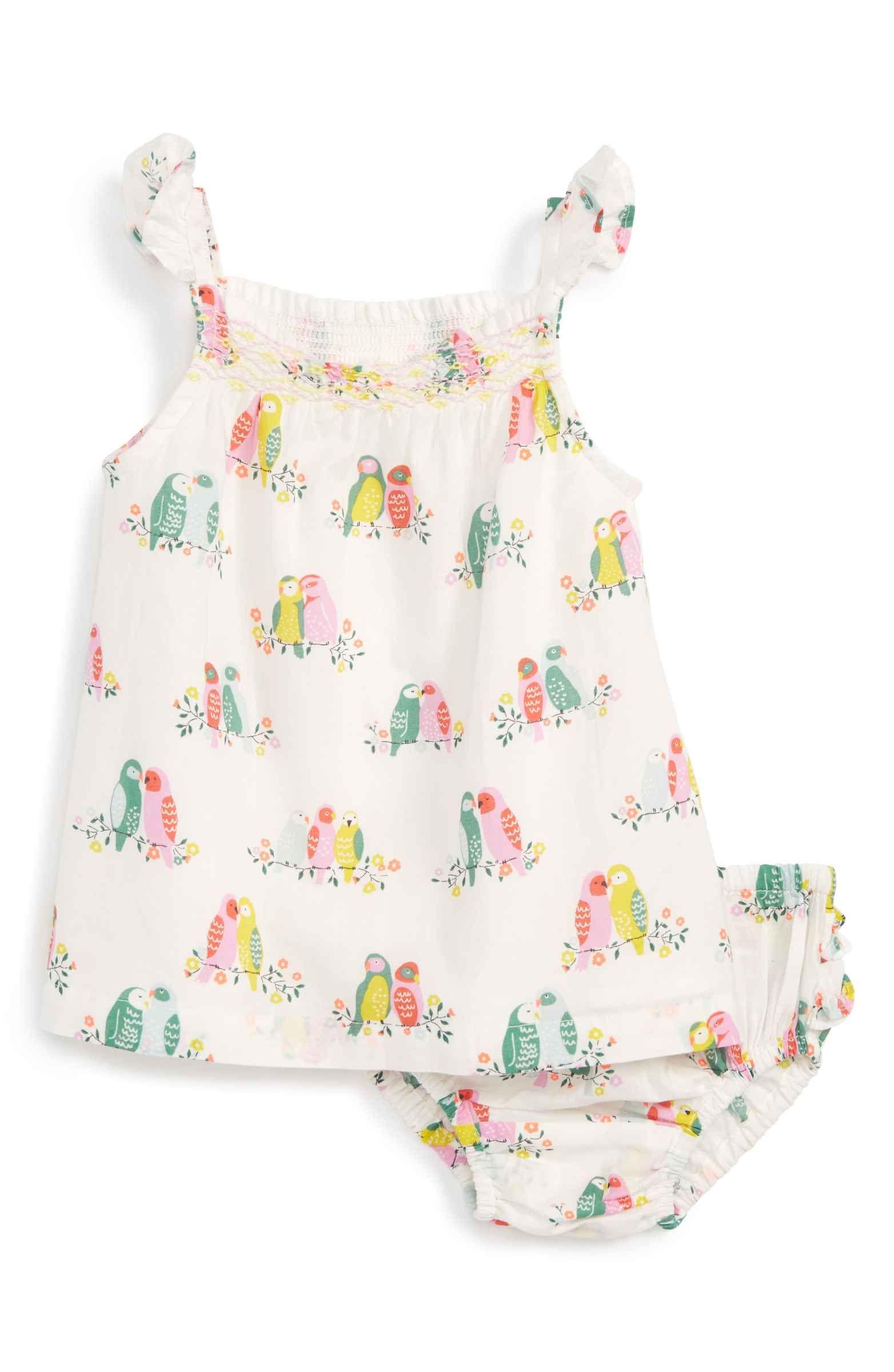 Mini Boden Summer Smocked Dress Baby Girls