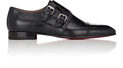 save off 8e472 90424 CHRISTIAN LOUBOUTIN Mortimer Leather Double-Monk-Strap Shoes ...