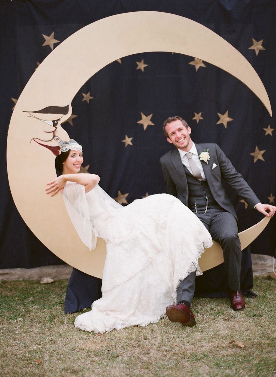 #backdrop, #photo-booth, #moon Photography: Aneta MAK - www.anetamak.com Read More: http://www.stylemepretty.com/2014/03/27/french-wedding-in-the-countryside-of-bergerac/