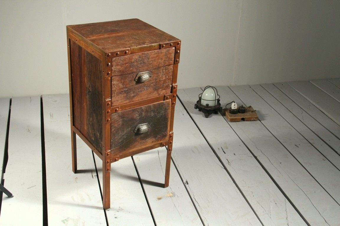 Reiner Upcycled Small Chest Of Drawers Side Table