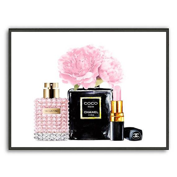 valentino art print chanel noir perfume poster chanel. Black Bedroom Furniture Sets. Home Design Ideas