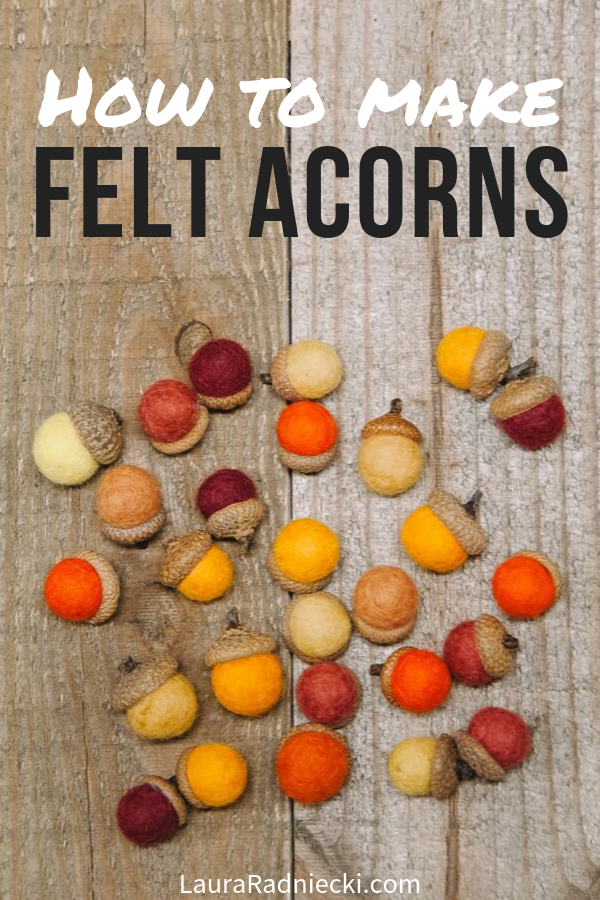 How to Make Felt Acorns