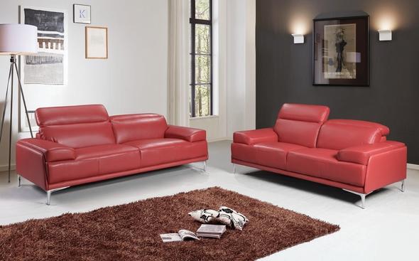 Nicolo Red Sofa