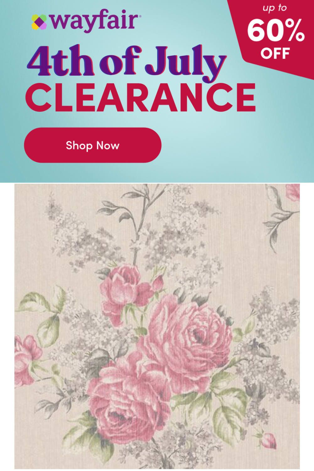Photo of Walls Republic 33′ x 20.8″ Floral Botanical Classic WallpaperFabric in Gray   Wayfair   Home Decor