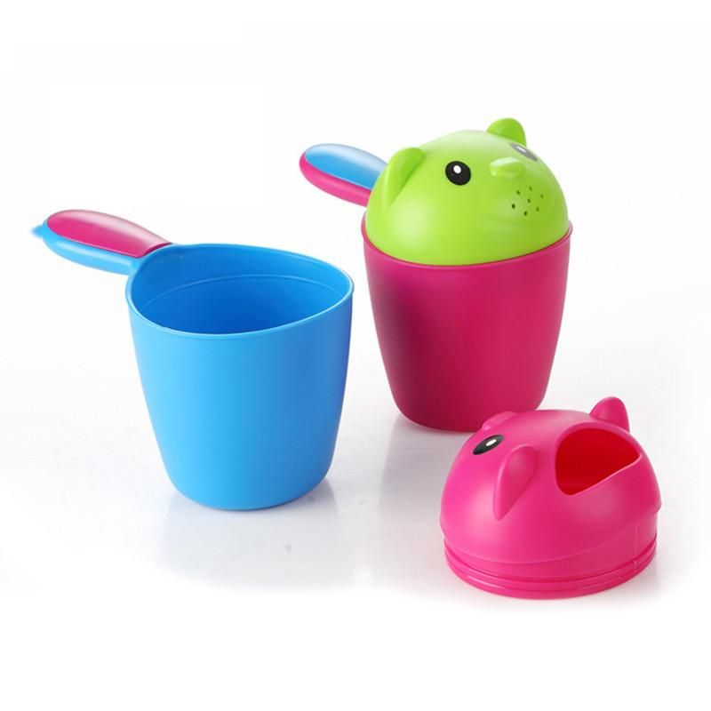 1Pcs Hair Wash Scoop Durable Plastic Bath Shower Cup Comfortable for Baby Kids