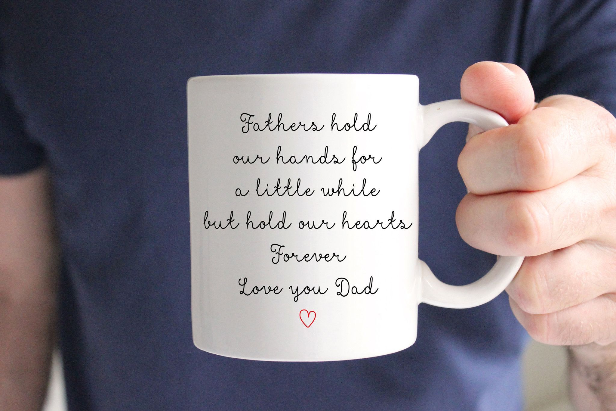 Fathers Hold Our Hearts Mug, Wedding Gift for Dad | Dads, Father and ...