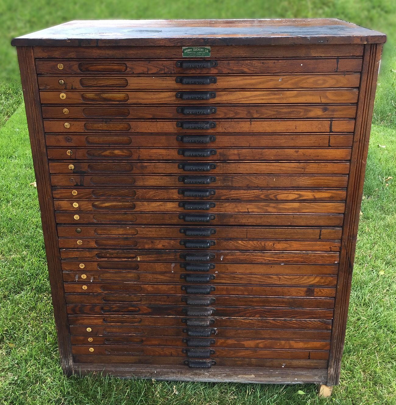 Antique letterpress printers cabinet... wouldn't this make an ...
