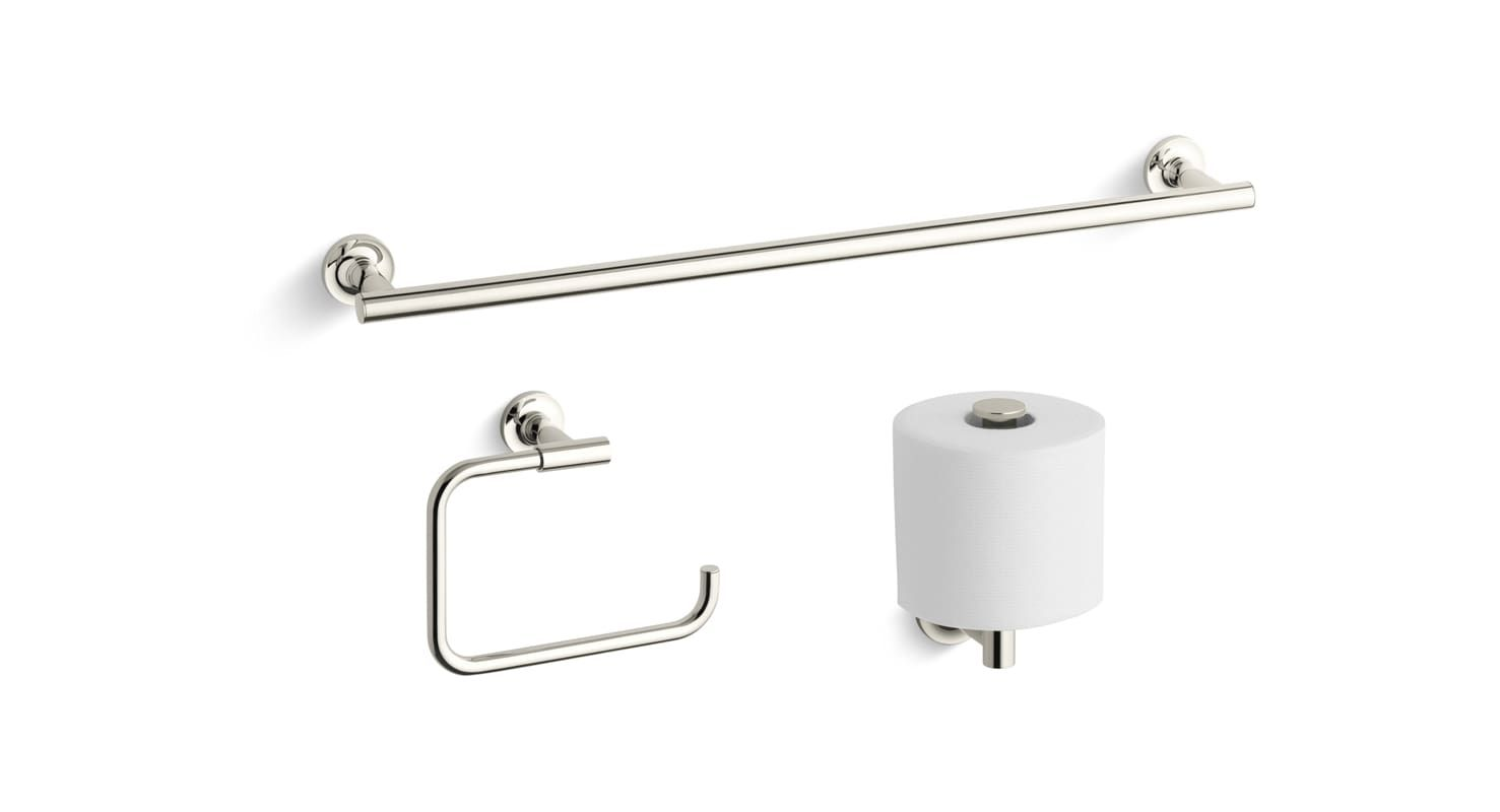 Kohler Purist Good Accessory Pack 1 Kohler Purist Towel Rings Polished Nickel