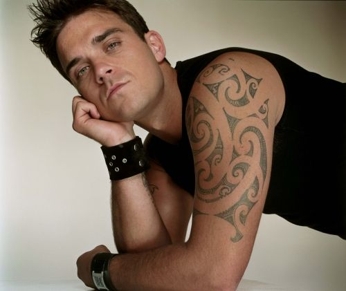 Robbie Williams Maori Tattoo Design