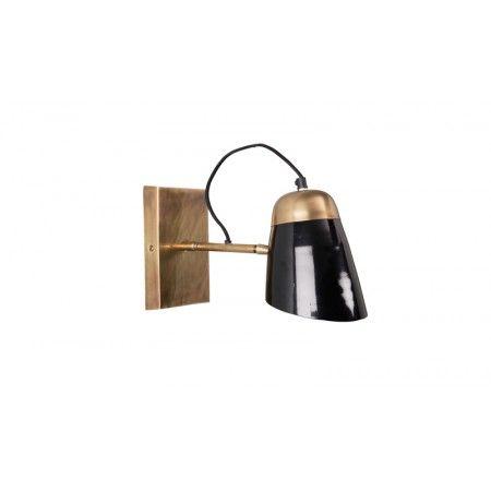 applique murale articul e noire et laiton old school dutchbone laiton lampe murale et. Black Bedroom Furniture Sets. Home Design Ideas