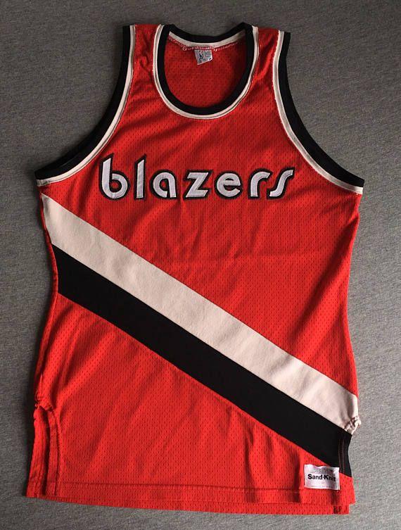 Blazers Jersey 70 S 80 S Vintage Portland Trail Blazers Sand Knit Medalist Rip City Shirt Mesh Sewn Patch Lettering Usa 40 Medium Vintage Blazer Jersey Portland Blazers