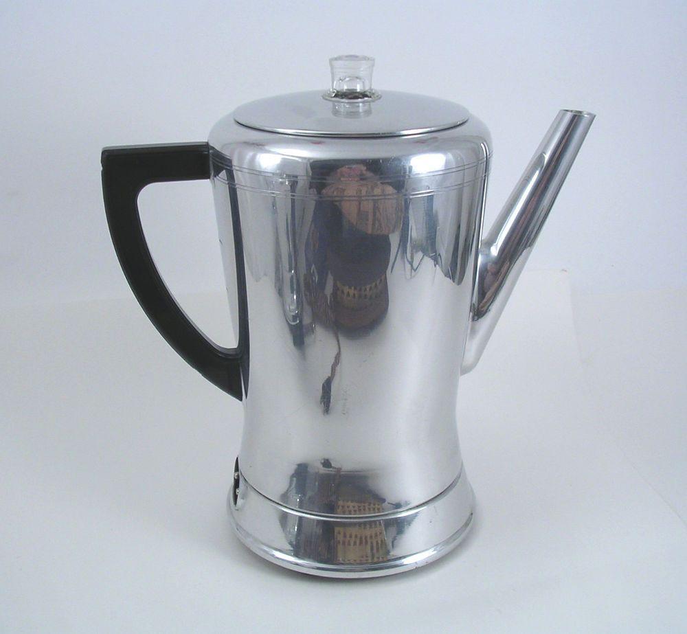 Vintage West Bend Automatic Electric 8 Cup Flavo Perk Coffee Percolator 3278e 25 00 Coffee Pot Percolator Coffee Pot Aluminum Coffee Pot
