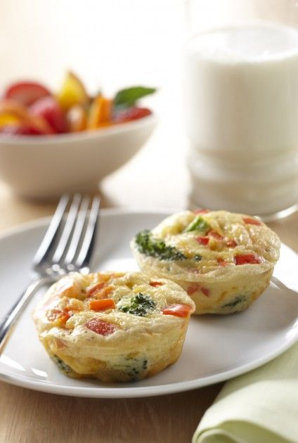 Mini broccoli frittatas from The Breakfast Project