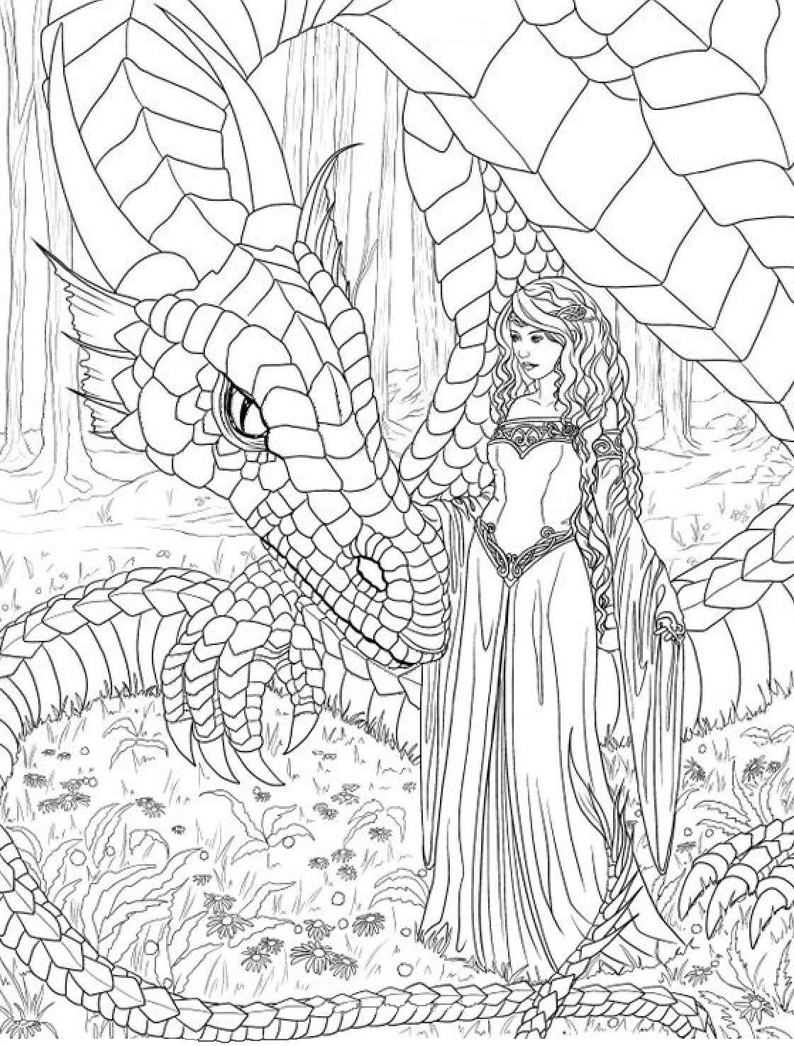 Dragon And Princess Coloring Page Dragon Coloring Page Fairy Coloring Pages Fairy Coloring