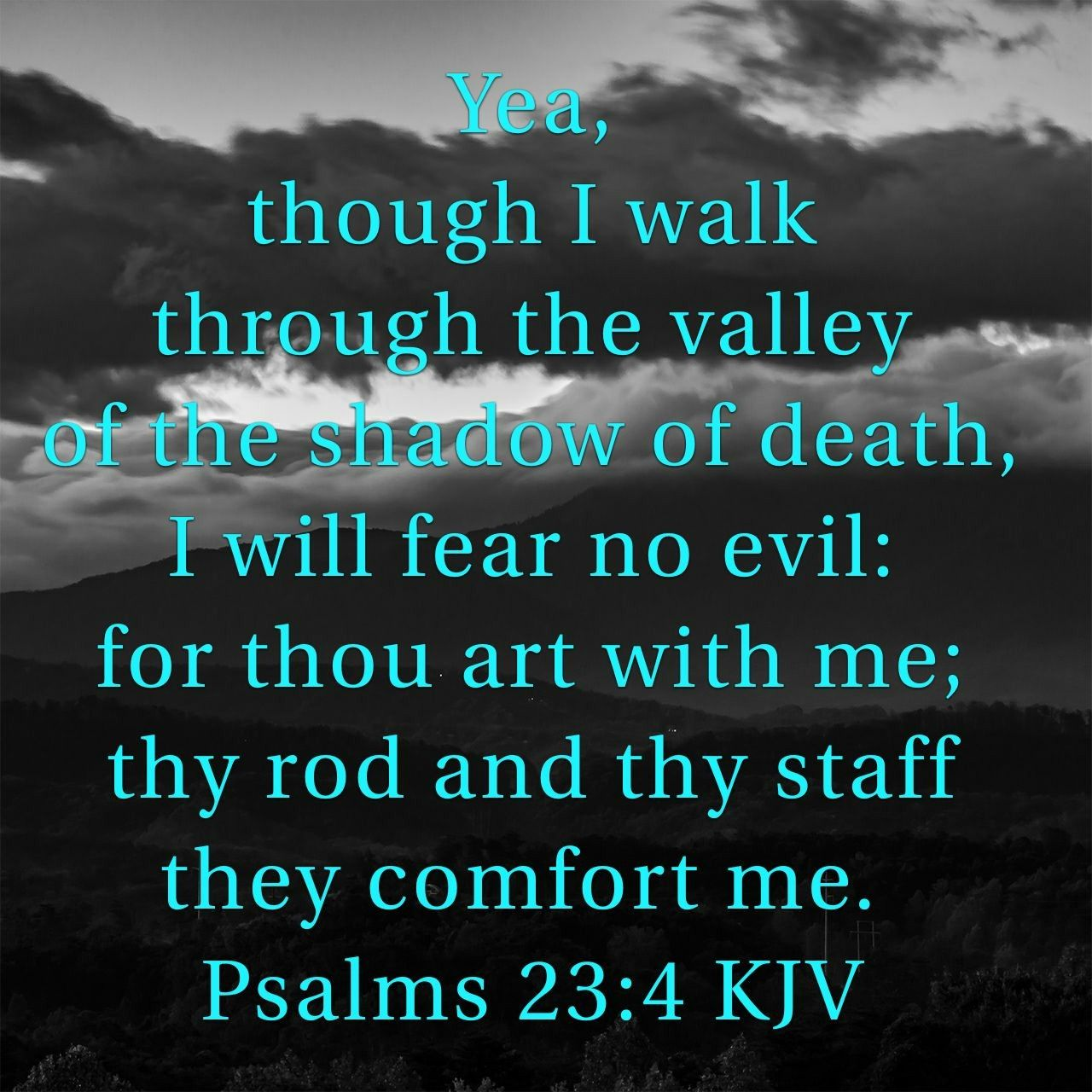 Psalms 23 4 Kjv Psalms Word Of God King James Bible