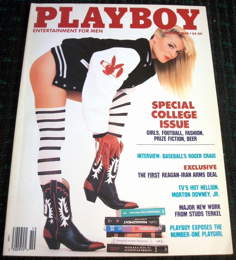 Playboy Magazine October 1988 - Shannon Long, Girls of the Southwest Conference