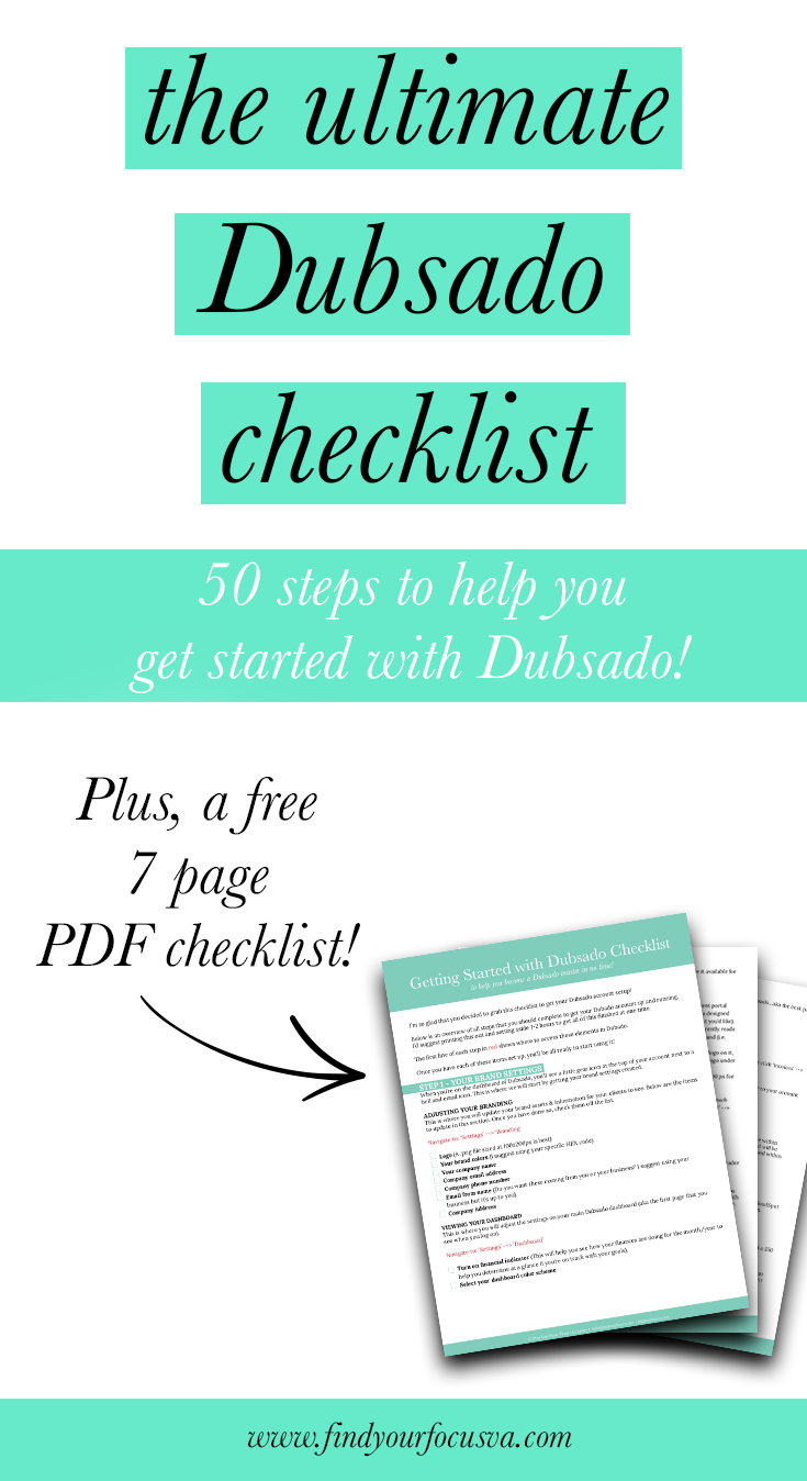 Ultimate Getting Started With Dubsado Checklist Dubsado For Client