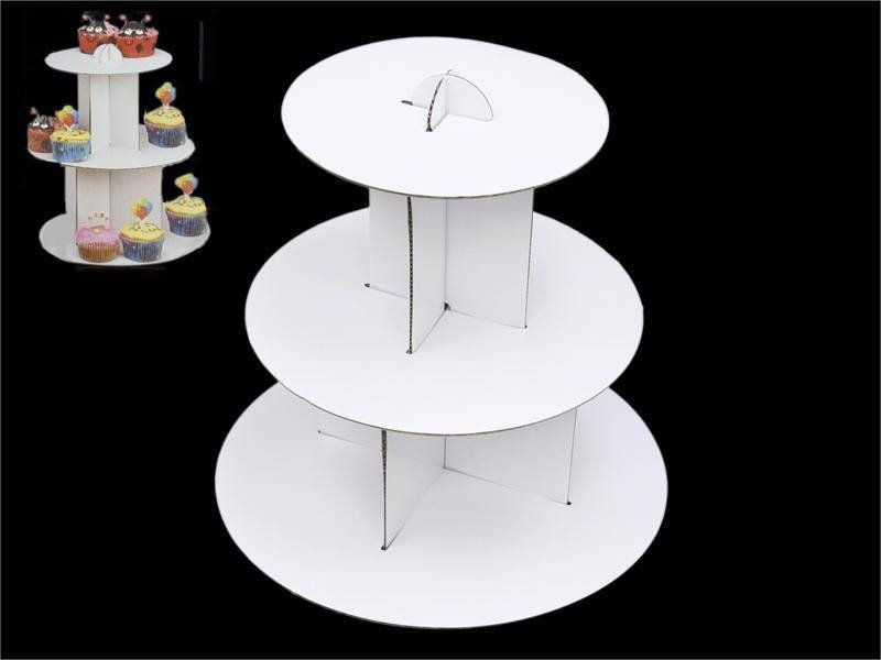 3 Tier Mini Cupcake Stand White Cardboard Cupcake Parties Who Doesn T Love Em So Many Colors Flavors And Personalities To Choo Kleine Geschenke Geschenke