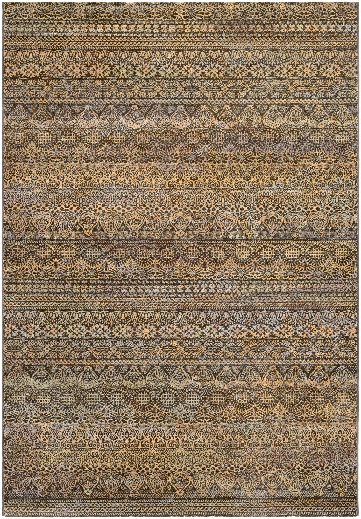 Dahab Abstract Brown Gray Yellow Area Rug Plush Area Rugs Area