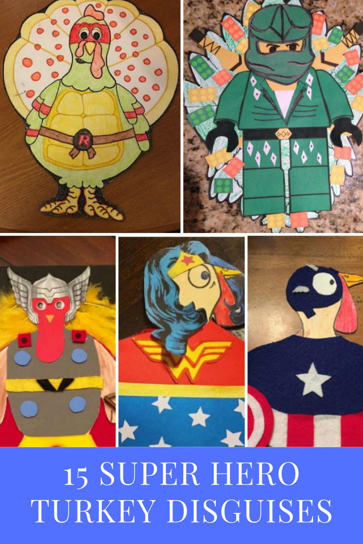 15 Super Hero Turkey Disguises | Finding Mandee