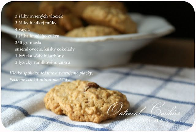 crafto-mania: Sunday Oatmeal Cookies