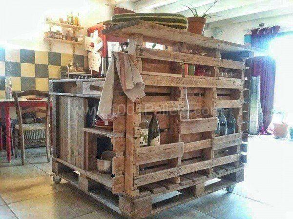 Pallet Mobili ~ Pallet mobile kitchen island u2022 pallet ideas mobile kitchen