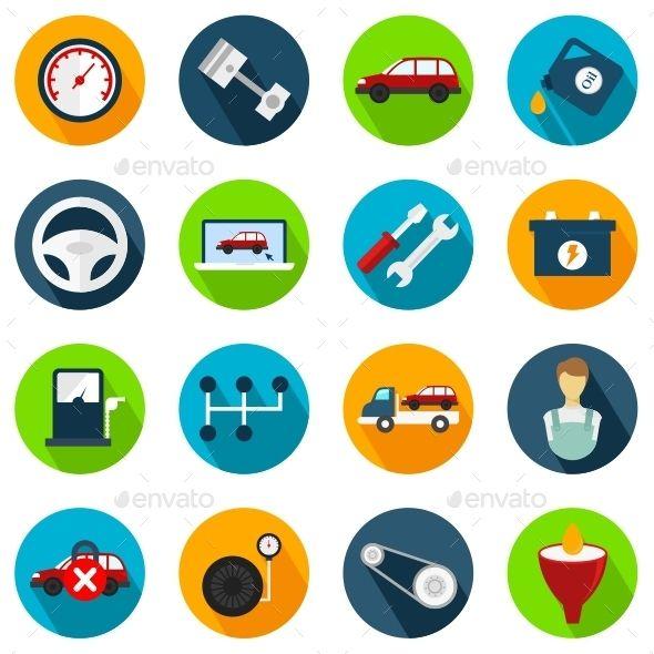 Car Service Icons Icon Technology Icon Icon Design