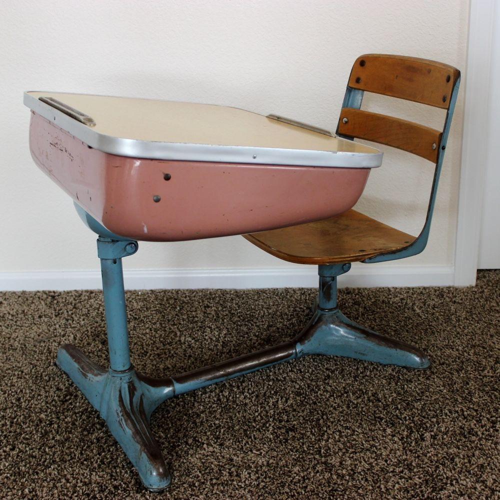 RARE 1940S   1950S NORMAN BEL GEDDES STREAMLINE DESIGN SCHOOL DESK CHAIR |  EBay