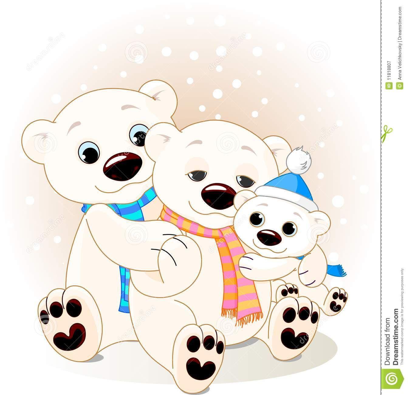 Familia Del Oso Polar Descarga De Over 50 Millones De Fotos De Alta Calidad E Imagenes Vectores Ee Inscribete Polar Bear Drawing Cute Polar Bear Baby Art