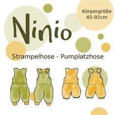 Hier findet Ihr die Nähanleitung zur Strampel- oder Pumplatzhose Ninio. Die Anl…