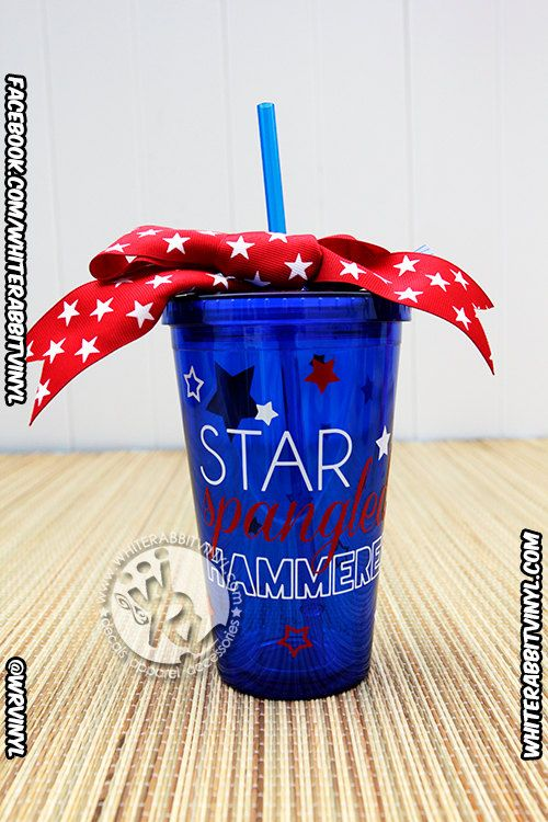 Star Spangled Hammered Patriotic Acrylic Tumbler Cup