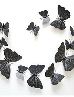 3D Wall Stickers Wall Decals,  DIY Butterfly PVC Pure Color ... – GBP £ 7.21